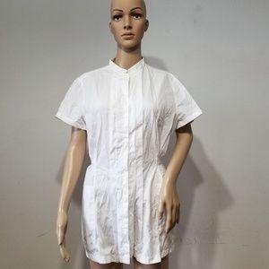 AKRIS Punto White Tunic, Belted, 14
